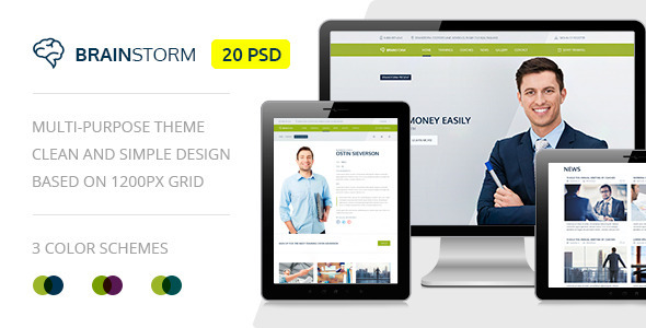 BrainStorm — Multipurpose Event, Training, Workshop PSD Template - Miscellaneous PSD Templates