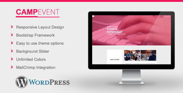 CampEvent – Conference, Event WordPress Theme