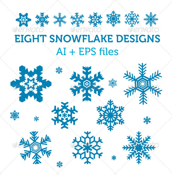 8 Snowflake Vectors - Organic Objects Objects
