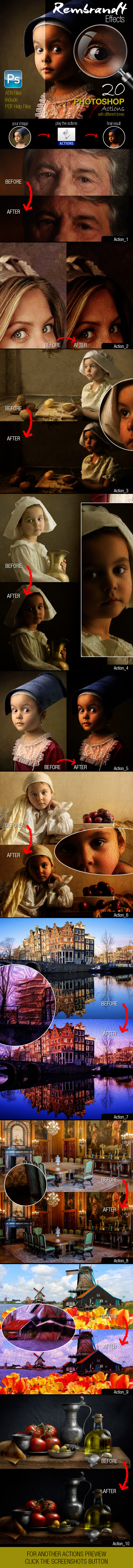 Rembrandt Effects - Photo Effects Actions