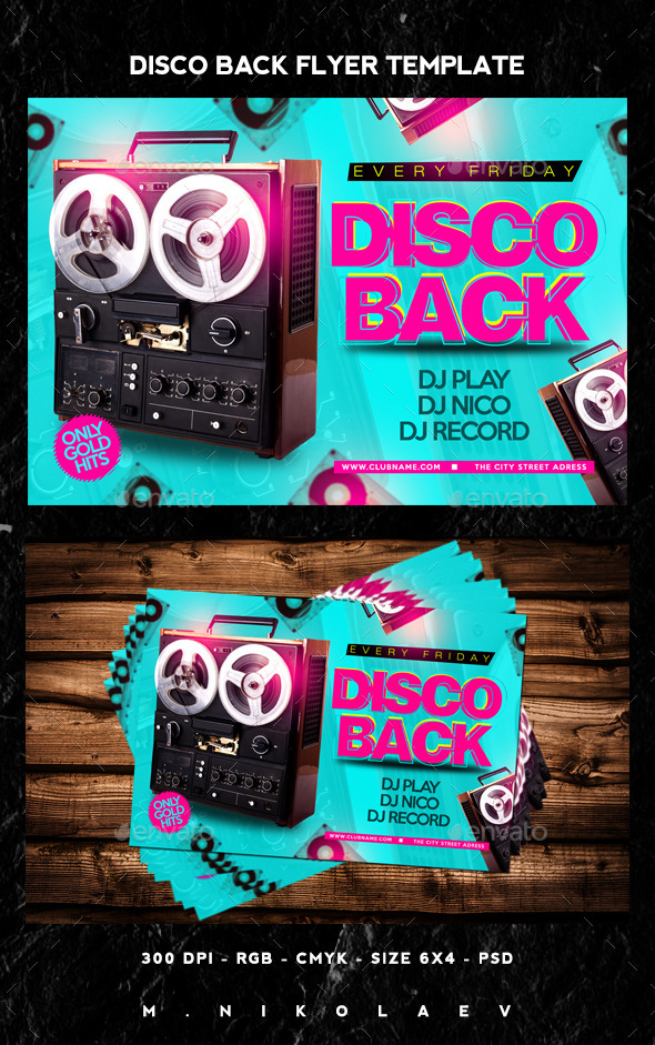 Disco Back Flyer - Clubs & Parties Events