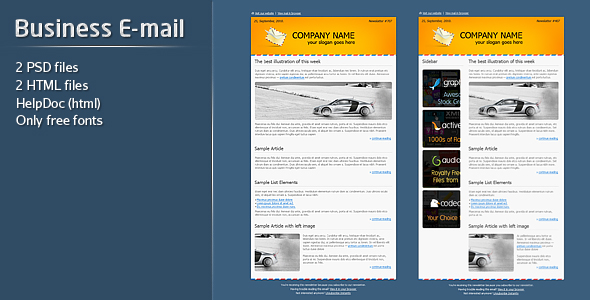 Free Download Business E-mail Template Nulled Latest Version