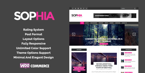 Sofia – An Elegant Magazine WordPress Theme