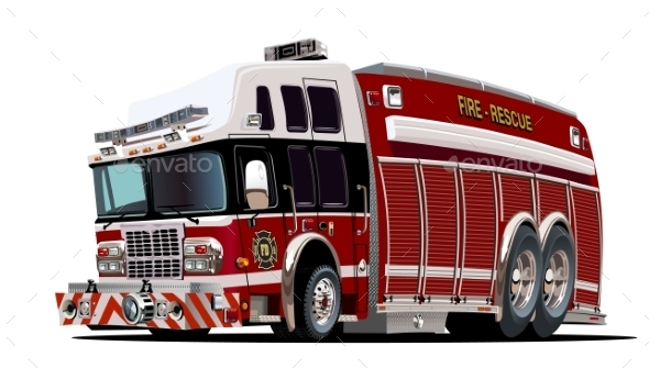 Cartoon Fire Truck - Miscellaneous Characters