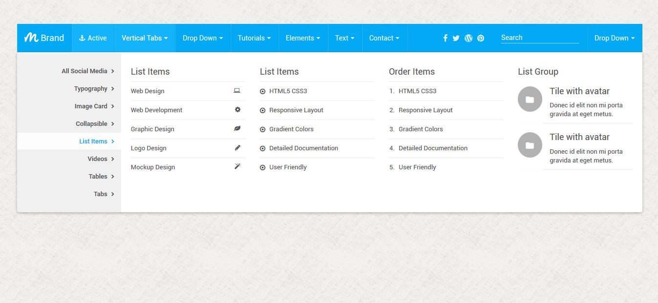 Mash mega menu bootstrap by thebestdesigns codecanyon mash mega menu bootstrap falaconquin