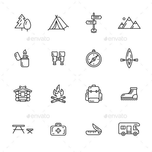 Camping Icons - Seasonal Icons