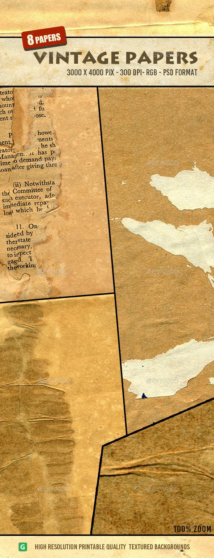 Vintage Paper Texture Pack 20 - Paper Textures