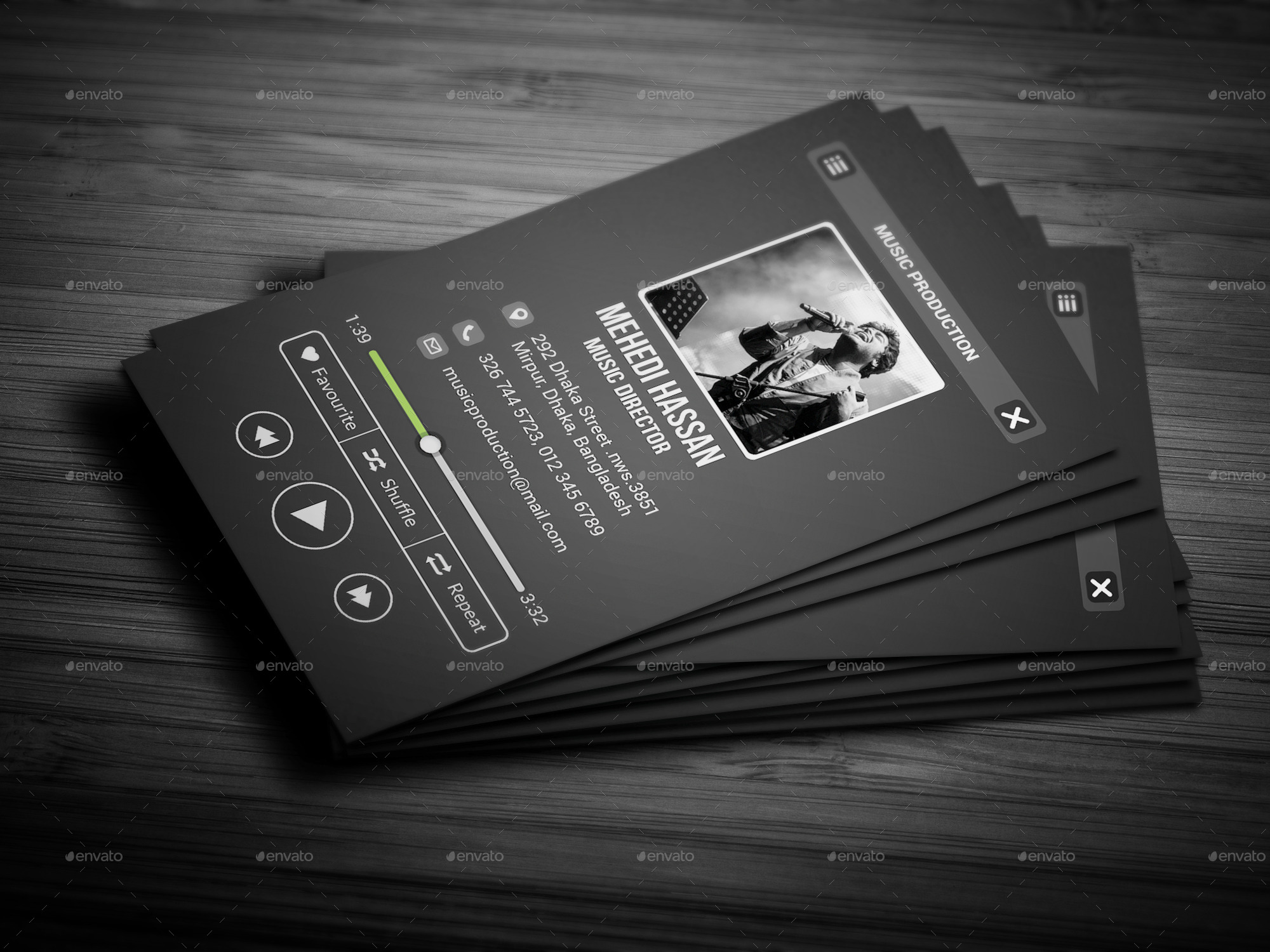 Music Business Cards Insssrenterprisesco - Music business card template