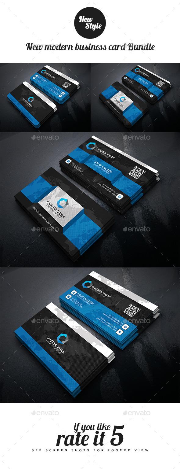 New Modern Business Card Bundle - Creative Business Cards