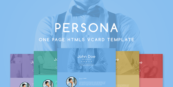 Persona Responsive HTML5 Vcard Template