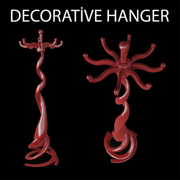 Decorative Hanger - 3DOcean Item for Sale