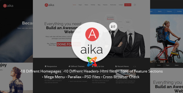 Aaika – Responsive Multipurpose Joomla Template
