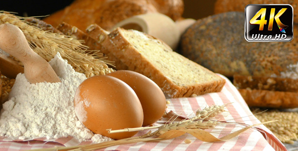 Bread Wheat Egg and Flour Concept 13