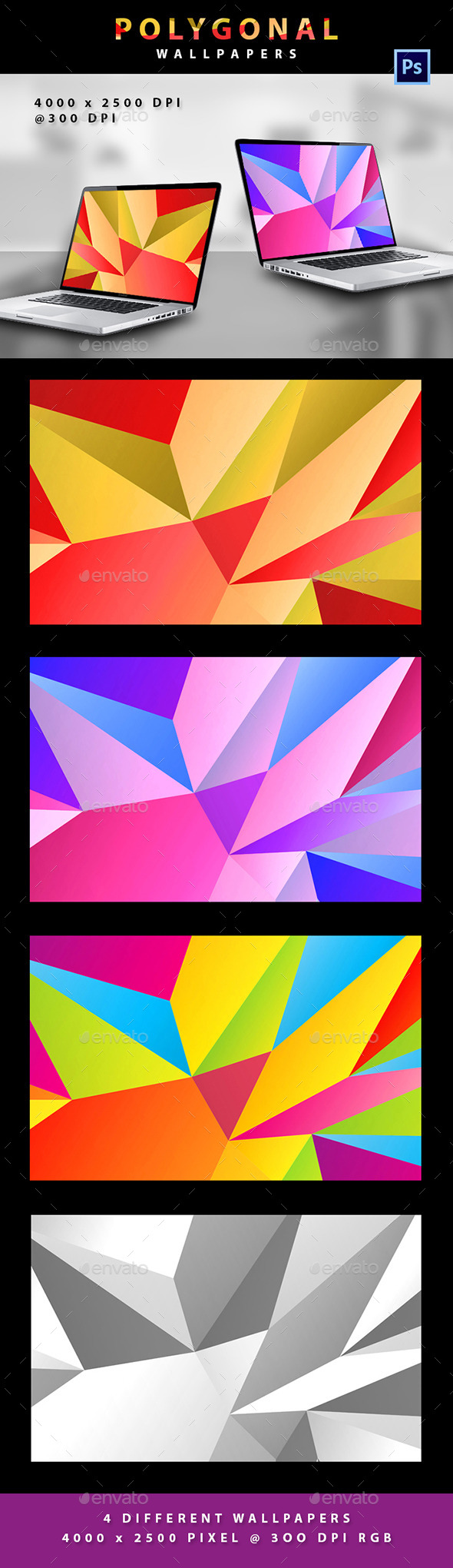 Polygonal Wallpaper - Abstract Backgrounds