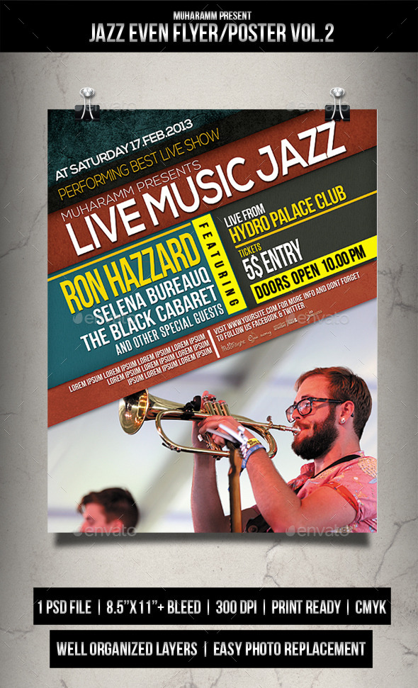 Jazz Event Flyer / Poster Vol.2 - Events Flyers