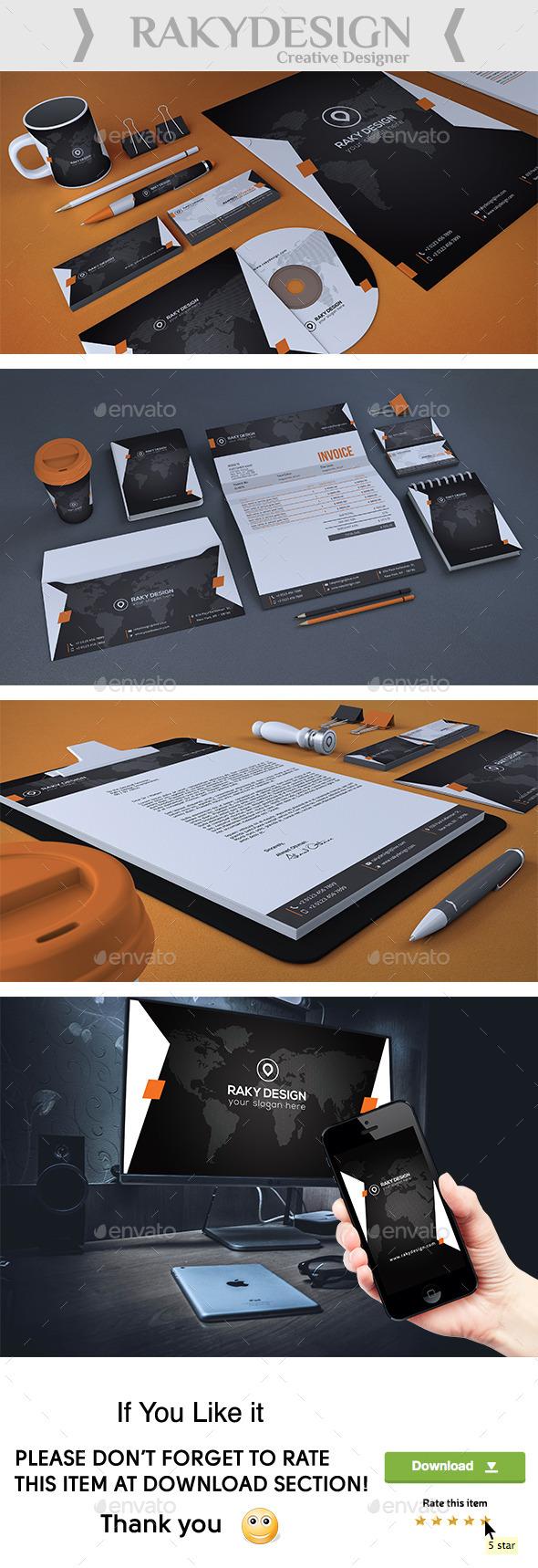 Stylish Corporate Identity - Stationery Print Templates