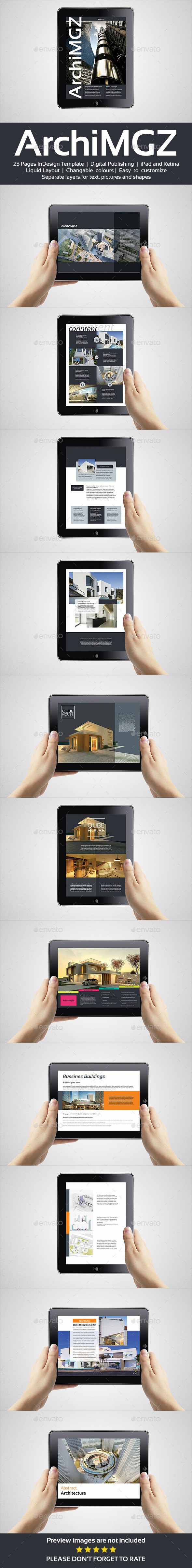 Tablet Architecture Magazine Template - Digital Magazines ePublishing