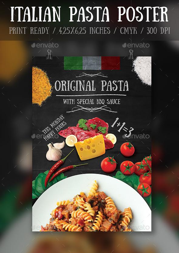 Italian Pasta Flyer\Poster Template - Print Templates