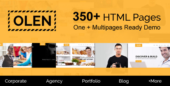 OLEN - Multipurpose Responsive Corporate HTML5 Template - Business Corporate