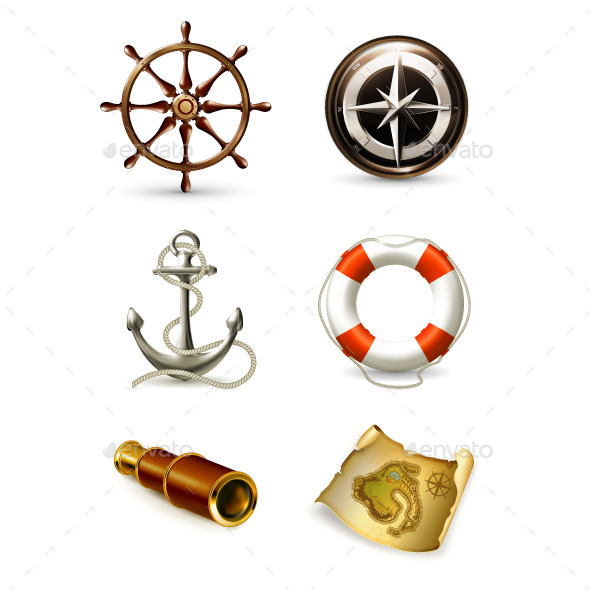 Marine Icons - Travel Conceptual