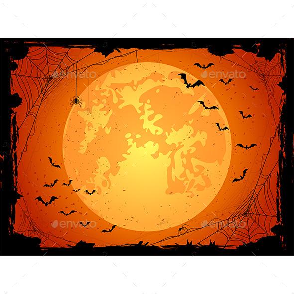 Dark Halloween Background with Bats - Halloween Seasons/Holidays