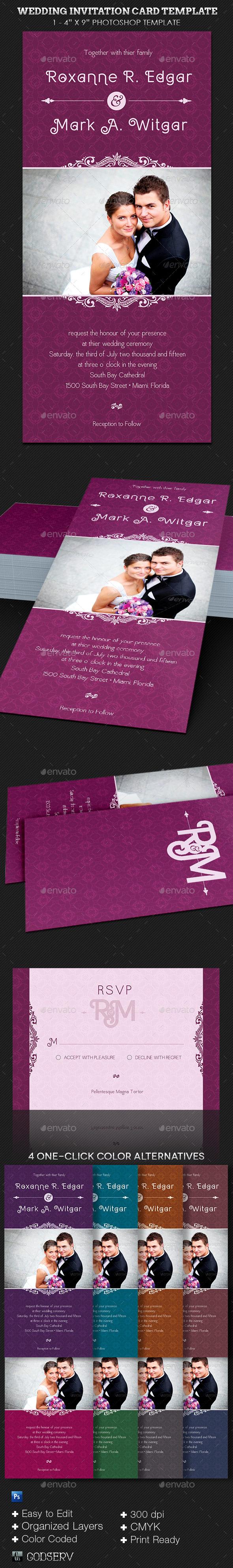 Wedding Invitation Card Template - Invitations Cards & Invites