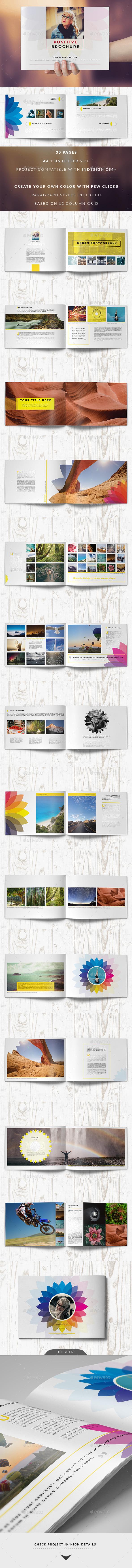 Positive Color Brochure - Photo Albums Print Templates
