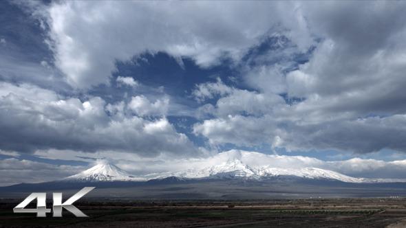 Dynamic Clouds on Landscape of Mount Ararat
