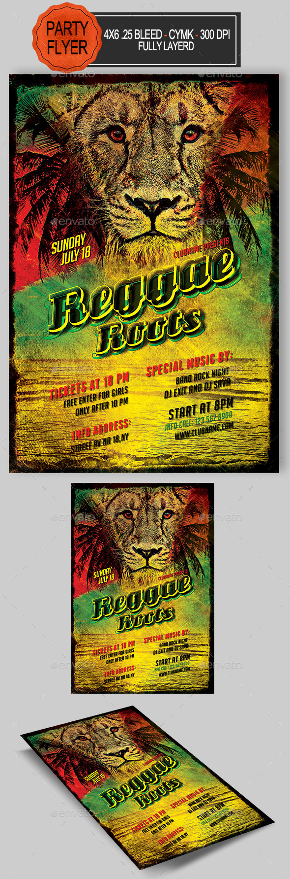 Reggae Roots Flyer  - Clubs & Parties Events