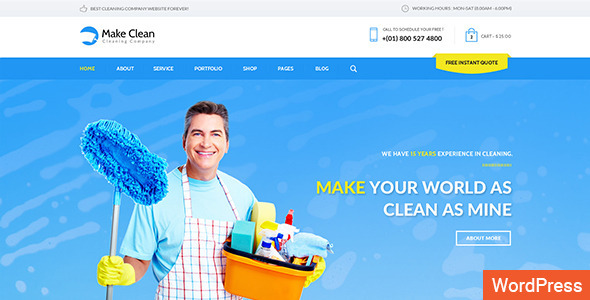 Make Clean – Cleaning Company WordPress Theme