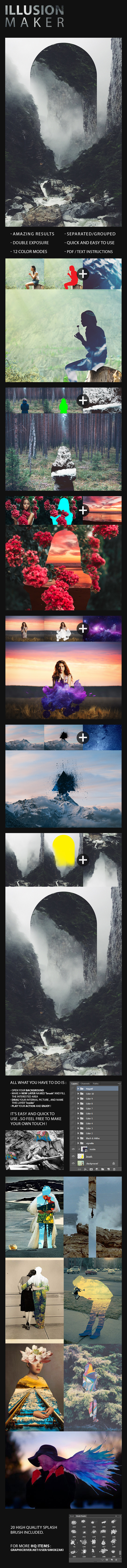 Illusion Action - Photo Effects Actions