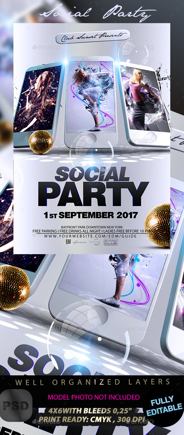Social Party - Events Flyers