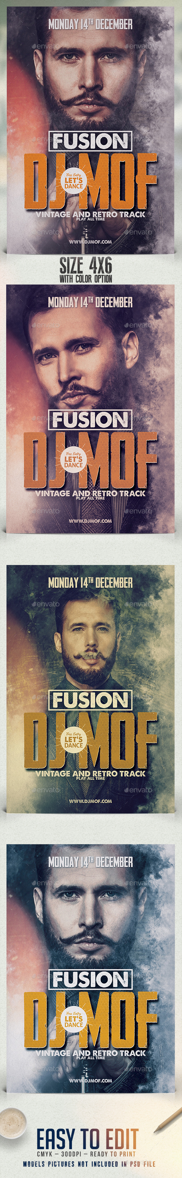 Fusion Dj Flyer Template - Clubs & Parties Events