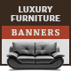 Luxury Furniture Banner Ads Set - GraphicRiver Item for Sale