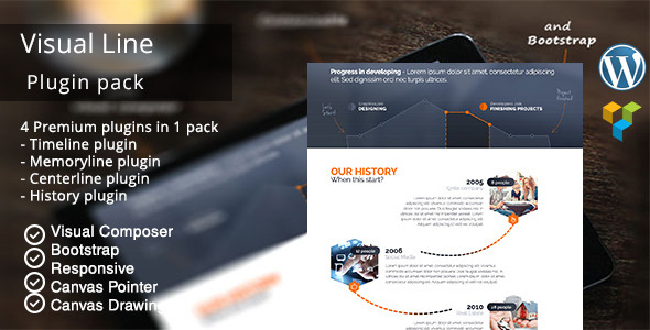 Visual Line WordPress Timeline Plugin - CodeCanyon Item for Sale