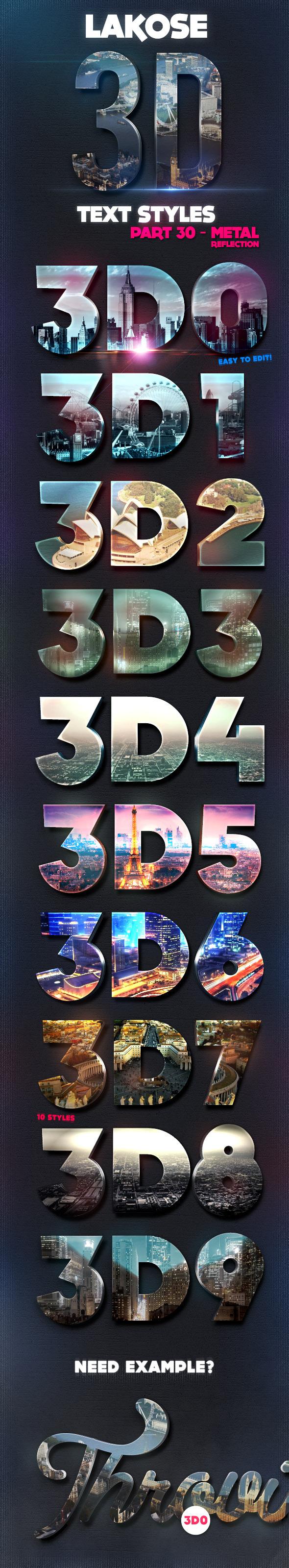 Lakose 3D Text Styles Part 30 - Text Effects Styles