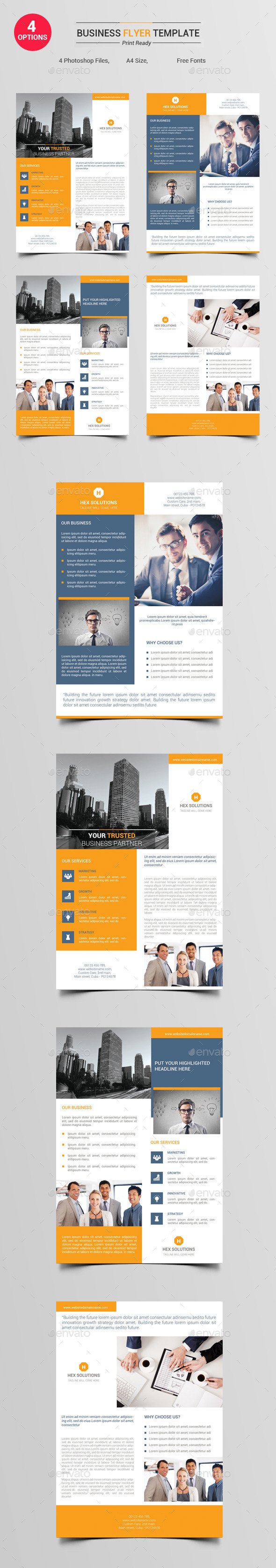 4 Options - Business Flyer V1 - Corporate Flyers