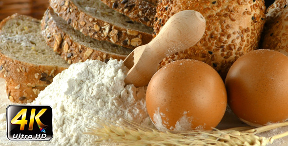 Bread Wheat Egg and Flour Concept 15