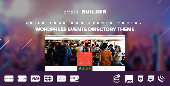 EventBuilder – WordPress Events Directory Theme
