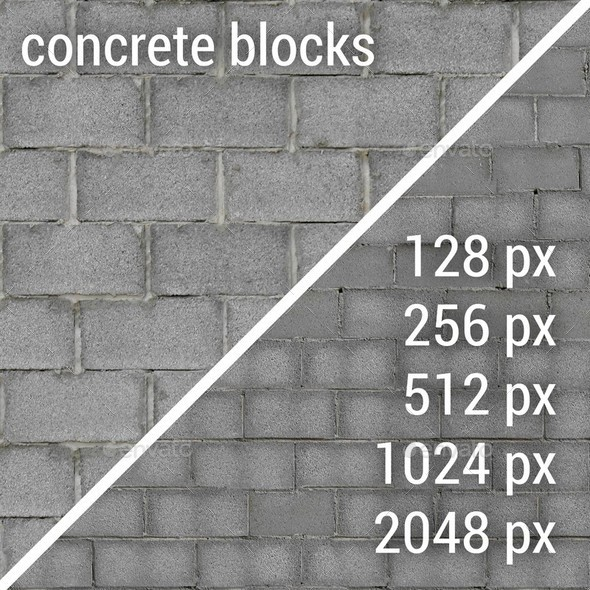 Concrete Blocks Textures - 3DOcean Item for Sale