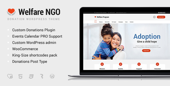 Welfare NGO – Nonprofit Organization Charity Theme