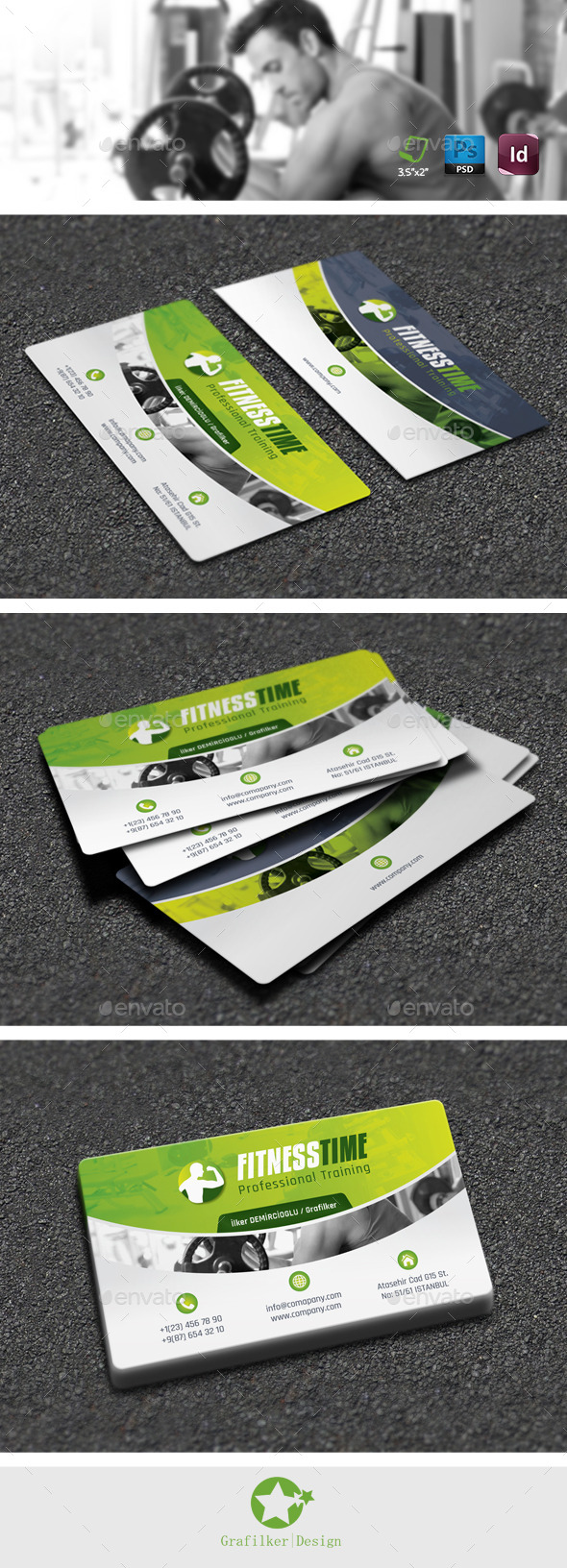 Fitness Salon Business Card Templates - Creative Business Cards