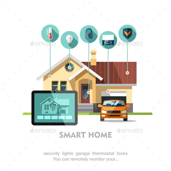 Smart Home. - Buildings Objects