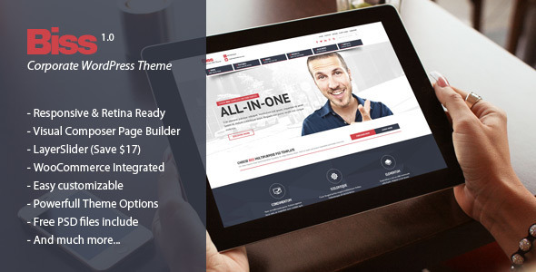 Biss – Corporate Multipurpose WordPress Theme