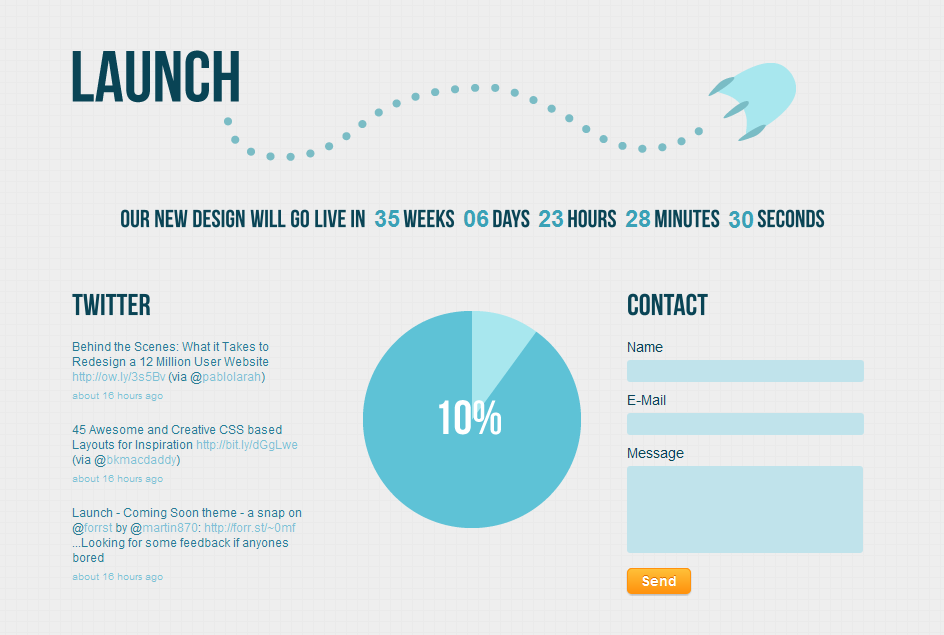 Launch - Coming Soon/Under Construction by RocketshipThemes ...