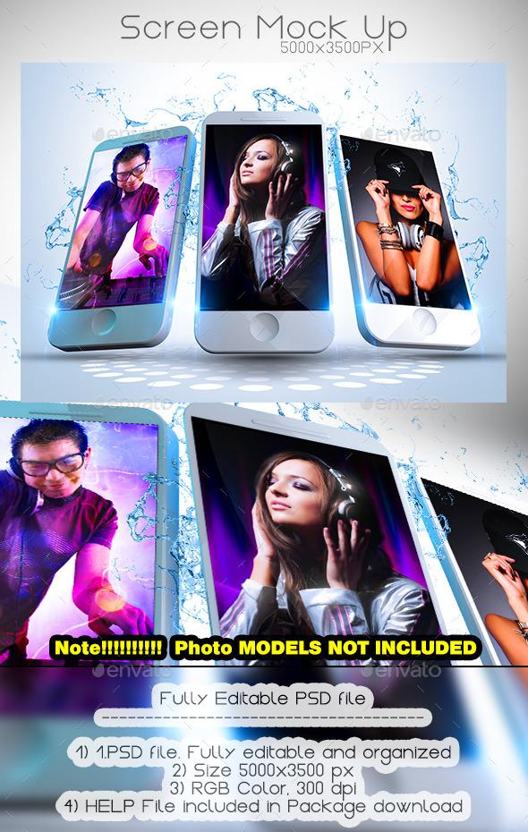 Phone Screen Mock Up - Mobile Displays