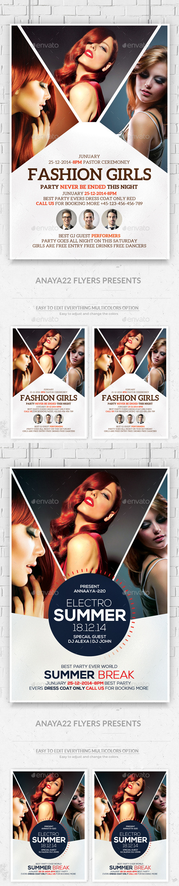 Ladies Night Out Party Flyers Bundle - Clubs & Parties Events