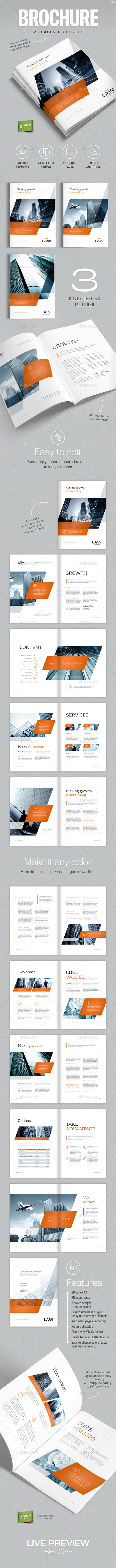 Brochure Template For Indesign A4 And Letter By Simon Cpx