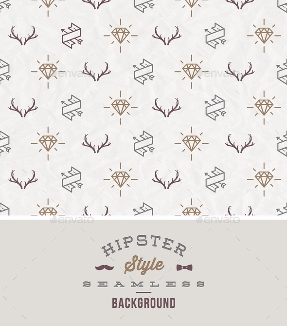 Hipster Style Seamless Background - Backgrounds Decorative