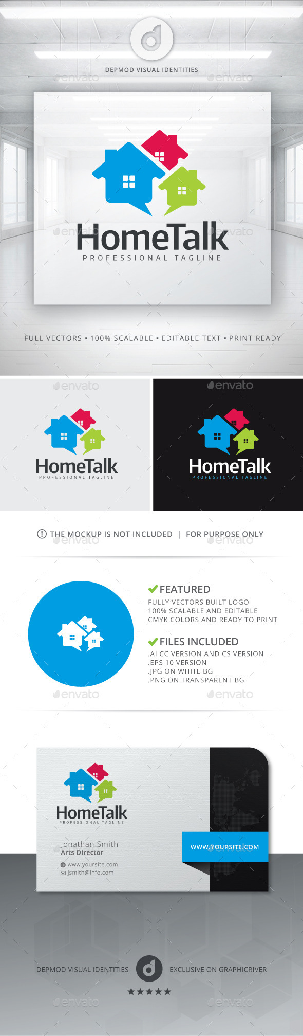 Home Talk Logo - Buildings Logo Templates